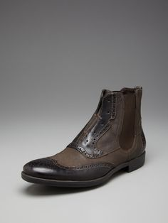 Leather Laceless Chelsea Boots by John Varvatos Footwear on Gilt