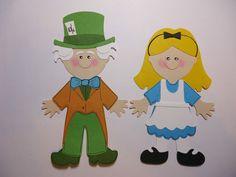 Alice Mad Hatter's Paper Dolls Set Cricut Die Cut Scrapbook Embellishment D   eBay