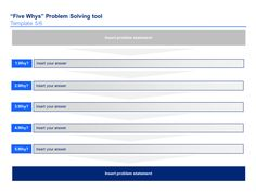 Five Whys Template 5 Problem Statement Strategic Planning