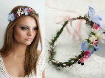 Blumenkranz Haarband Blumen Dirndl Haarschmuck