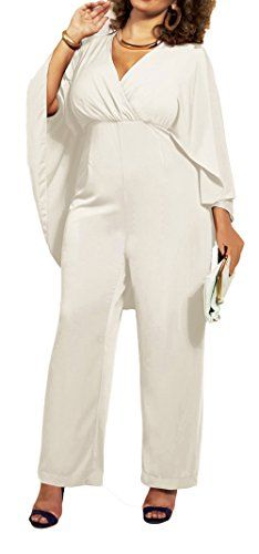Kearia Womens Chiffon V Neck High Waist Plus Size Long Ju... https://www.amazon.com/dp/B01JKOAK6K/ref=cm_sw_r_pi_dp_x_gGC5xb35950WT