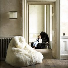 Sheepskin Beanbags - Pouffes & Bean Bags - Treat Your Home - Home Accessories