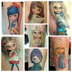 #tattoo #doll  #dolltattoo #blythe #blythetattoo
