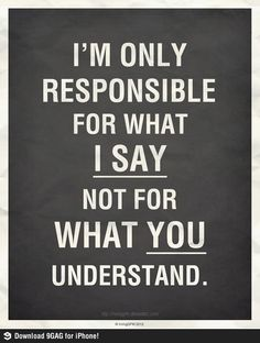 Solo soy responsable por lo que digo...