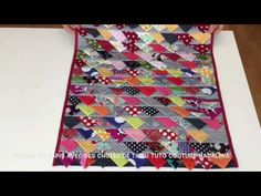 Prairie Points and strip piecing. Old Jeans Recycle, Reuse Old Clothes, Diy Clothes, Small Quilt Projects, Quilting Projects, Midnight Quilt Show, 4 Patch Quilt, Scrap Busters, Table Runner And Placemats