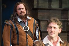 Larry Bull (left) as Treville and Luigi Sottile as D'Artagnan in the Utah Shakespeare Festival's 2016 production of The Three Musketeers. (Photo by Karl Hugh. Copyright Utah Shakespeare Festival 2016.) @utahshakespeare #3musketeers