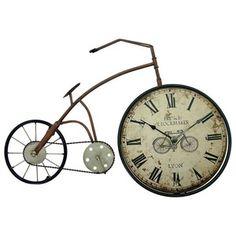 O relógio é utilizado como medidor do tempo desde a antiguidade, em variados formatos. É uma das mais antigas invenções humanas. E se torna umas das peças mais importantes serve tanto para sabermos o tempo, como também fica lindo na decoração, e com os Relógio Bicicleta Antiga é uma ótima idéia, sua casa ficará ainda mais bonita e cada vez mais com a sua cara, e este relógio produzido em ferro e o motorzinho traseiro com entrada para uma pilha AA (pilha não acompanha).