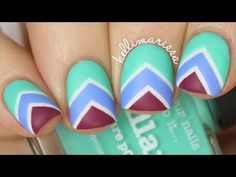 Chevron Stripes Nail Art Tutorial || KELLI MARISSA - YouTube