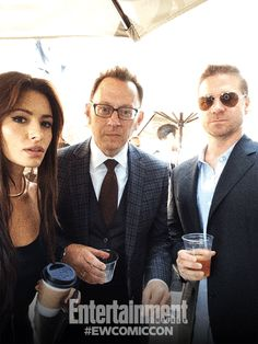 Sarah Shahi, Michael Emerson, and Greg Plageman, Person of Interest.