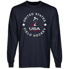 USA Field Hockey Full Circle Long Sleeve T-Shirt - Navy Blue