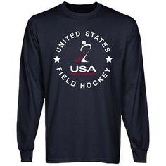 USA Field Hockey Full Circle Long Sleeve T-Shirt - Navy Blue