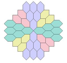 Hexagon tessellation...these are the colors I am going to use on my Lucy Boston Quilt.