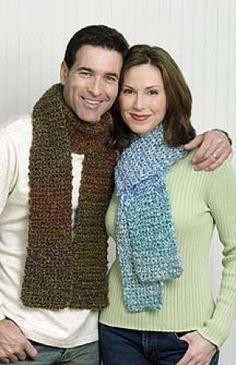 I have made 2 of these scarves in different colors.  Great in fall/winter!  I have done 2 more scarves in different colors so now I have 4 total to mix and match with different stuff - JB