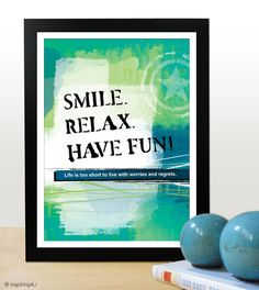 A4 Motivational poster with inspiring happy quote. by inspiring4U, $17.00 Inspirational Posters, Motivational Posters, Typography Quotes, Typography Design, Life Is A Gift, Happy Quotes, Happiness Quotes, Good Attitude, Cheer You Up
