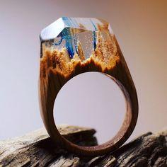 Secret Wood: Miniaturas de incríveis mundos ocultos em anéis de madeira