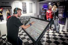 DJ playing in Reebok showroom
