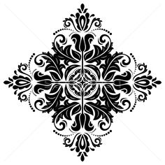 Find Oriental Vector Pattern Damask Arabesque Floral stock images in HD and millions of other royalty-free stock photos, illustrations and vectors in the Shutterstock collection. Mandala Stencils, Stencil Patterns, Stencil Designs, Frosted Glass Design, Black White, Stencil Painting, Stenciling, Oriental Pattern, Mandala Drawing