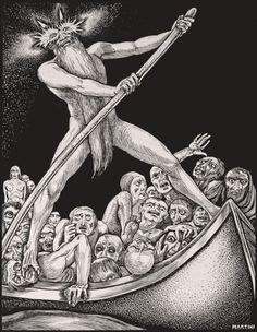 1901, from the illustrated edition of Dante's Divine Comedy. Illustration by Alberto Martini for the Fratelli Alinari.