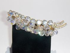 Vintage D Juliana Clear Rhinestone Bauble Bead Spray Brooch Pin .99 Cent NR!
