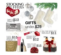 """""""Stocking Stuffers"""" by einn-enna on Polyvore featuring beauty, Nordstrom, Lila Grace, Clarins, Victoria's Secret, Nails Inc., beautyset and stockingstuffers"""