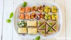 Here's a delicious variety of five easy tea sandwiches you can prepare for your next party.