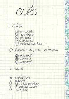 Art journals 448178600402464420 - clés Plus Source by emilietrousset My Journal, Journal Pages, Bujo Key, Weekly Log, Moleskine, Bullet Journal Index, Organization Bullet Journal, Book Organization, Bullet Journal Inspiration