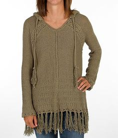 """This sweater is AWESOME!!!  ---""""Love Stitch Crochet Sweater"""" www.buckle.com"""
