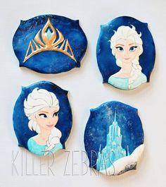Frozen Cookies~                             By Killer Zebras - Disney Frozen Elsa cookies, blue