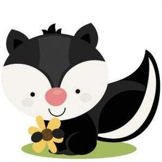 Silhouette Design Store - View Design miss kate cute skunk Woodland Creatures, Woodland Animals, Baby Animals, Cute Animals, Cute Clipart, Silhouette Design, Nursery Art, Cute Drawings, Baby Quilts