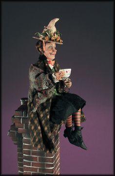 OOAK 1:12th Scale Miniature Halloween Witch by Creager / NIADA / IGMA | eBay