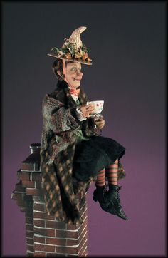 OOAK 1:12th Scale Miniature Halloween Witch by Creager / NIADA / IGMA | eBay