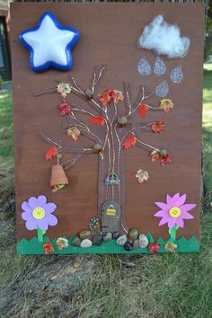 Sensory Busy Board with Woodland and Fall by CPeachBoutique