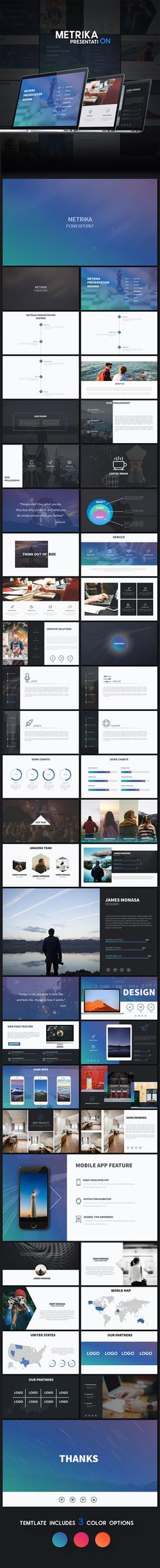 Metrika - Colorful Powerpoint Presentation Template. Download here: http://graphicriver.net/item/metrika-colorful-powerpoint-presentation/15817318?ref=ksioks