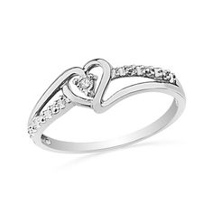 $12.99 - Diamond Accent and Sterling Silver Heart Ring