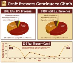 Craft breweries in the USA graphic