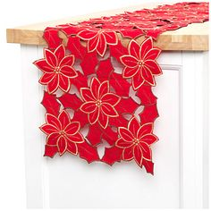 Christmas Cutwork Embroidery Table Runner at Big Lots. Love it!#BigLots