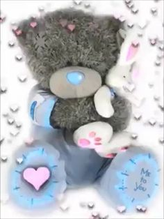 Tatty Teddy sends warm hugs and much love for you this Christmas Season! Tatty Teddy, Cute Images, Cute Pictures, Photo Ours, Corazones Gif, Teddy Beer, Bear Gif, Teddy Bear Pictures, Blue Nose Friends