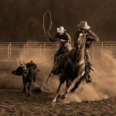 Team roping - my dad used to do this when I was a little girl, even did the rodeo circuit for awhile - used to love the times spent out at Bob Lacefield's arena watching all the guys ropin'. Rodeo Cowboys, Real Cowboys, Western Riding, Western Art, Luna Lovegood, Sirius Black, Jon Snow, Rodeo Time, Into The West