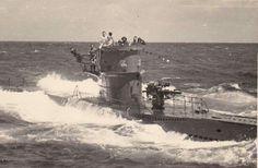 U-96 1942 on patrol, emblem of the 7th Flotille now commanded by Leutnant zur See Hans Jurgen Hellreigel