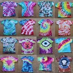 """Tulip Tie Dye T-shirt Party! """"How-to"""" patterns and techniques!"""