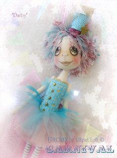 Urchin Art Doll 'Darby' by Vicki at Lilliput Loft