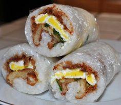 breakfast of champioins, taiwanese bfast rice roll