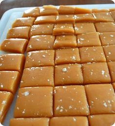 I would love to try making these salted caramels!