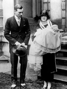 Lord Louis Mountbatten and wife Edwina Mountbatten after the christing of ther first born daughter Lady Patricia Edwina Victoria  Mountbatten in 1924