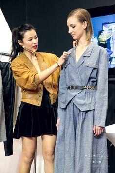Vintage Styling at Hong Kong Fashion Week 2015 with 80s Vintage denim jumpsuits