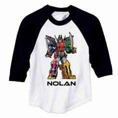 Power Rangers Legendary Megazord Black Sports Jersey - T-Shirts - Clothing…
