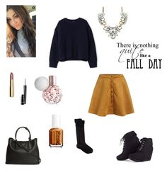 """""""fall day"""" by synclairel ❤ liked on Polyvore featuring Acne Studios, H&M, Prada, Gold Toe, Essie, MAC Cosmetics, Fall, cute, ootd and sweaters"""