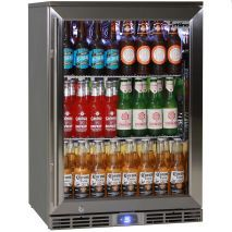 Bar Refrigerator Beer Fridge Kitchen Gl Doors Cold Drinks Outdoor Bars
