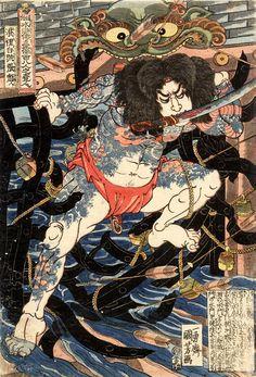 Японская татуировка :: Путь воина (Бусидо), самурайская этика, мастера татуировки, символика татуировки, самурайские татуировки