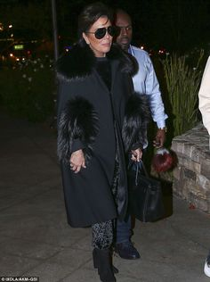 Family matriarch: Kris Jenner and boyfriend Corey Gamble were out to dinner with Scott and his son Mason